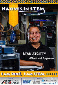 Natives In STEM 2016 Poster - Stan Atcitty