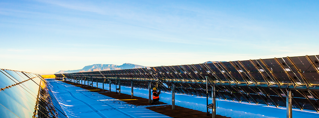image of solar panels in New Mexico