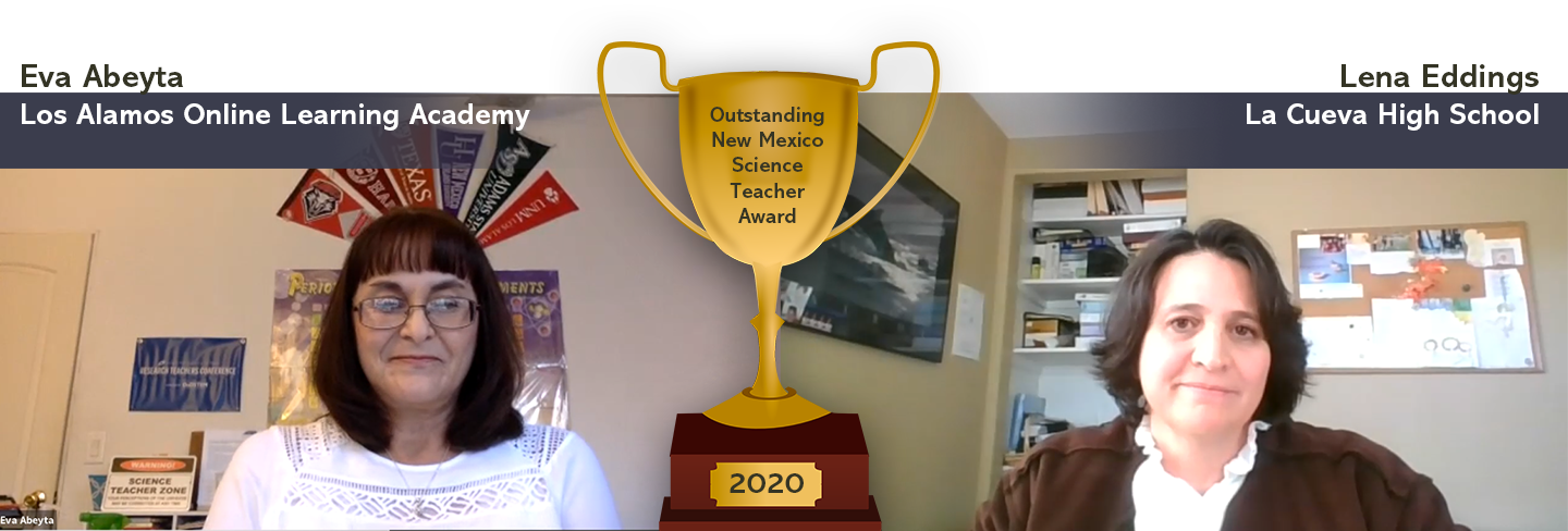 Winners of the 2020 Outstanding NM science teachers